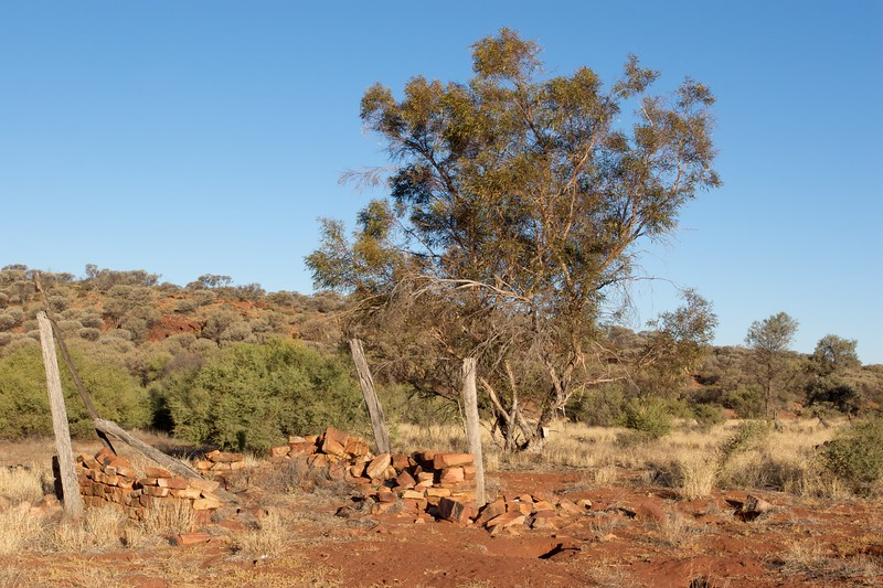 Old Angas Downs cattle station • The remains of the homestead at Old Angas Downs cattle station, in the Liddle Hills, about 220km south-west of Alice Springs.