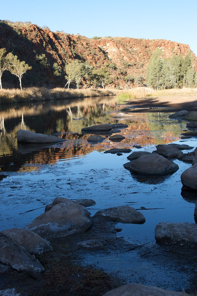 Boggy Hole reflections • Late-afternoon reflections at Boggy Hole, in the Finke Gorge National Park (Northern Territory).
