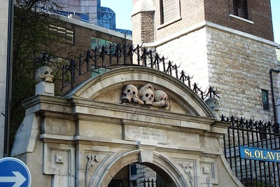 2 - Entance to the medieval St. Olave's Chuch, London - Liz Greenberg