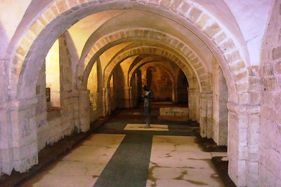 13 - Crypt of Winchester Cathedral, Mostly Dry for Now - Liz Greenberg