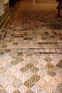 14 - Medieval Tilework on the Floors of Winchester Cathedral - Liz Greenberg