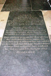 11 - Jane Austen's Tomb in Winchester Cathedral - Liz Greenberg