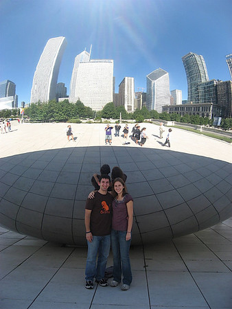 Katy and I in front of The Bean and Chicago!