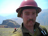 Self portrait with a smokey Hell's Canyon behind me.
