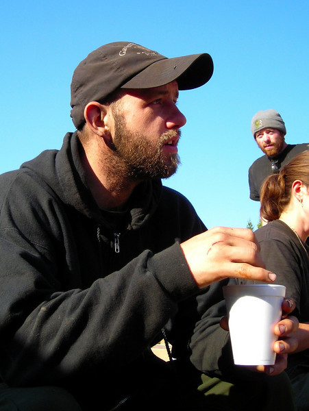Michael Mulcahy and his morning coffee.
