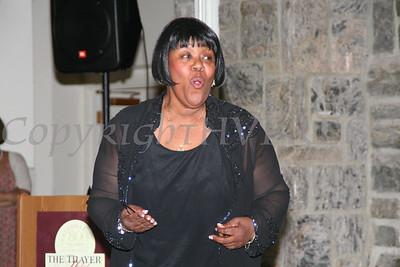 Paulette Sibert offers a vocal solo during the AME Zion Church 180 Anniversary.  Chuck Stewart, Jr./HUDSON VALLEY PRESS