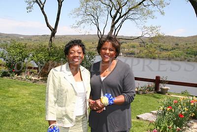 Elaine Magwood and NBC anchor Pat Battle at the AME Zion Church 180 Anniversary.  Chuck Stewart, Jr./HUDSON VALLEY PRESS