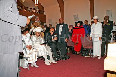 Bishop Johnson addresses the congregation during the dedication of Mt. Carmel Church.