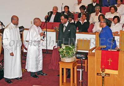 Bishop Brown, Bishop Moses, Pastor Herring and Dr. Gilliams during the Mt. Carmel Church Dedication.