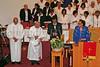 Bishop Brown, Bishop Moses, Pastor Herring, Dr. Sheila Gilliams read the dedication for Mt. Carmel Church.