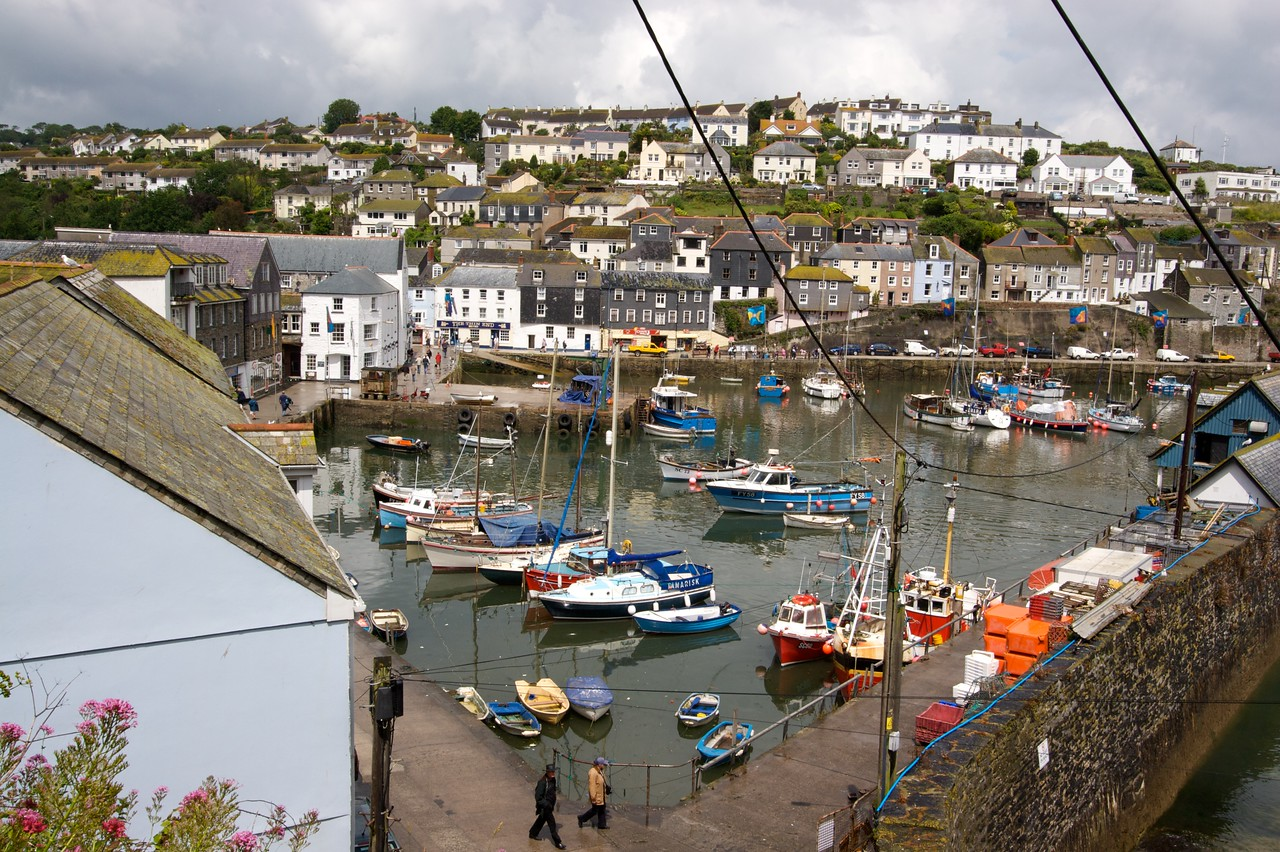Mevagissey • Boats in the harbour in the small fishing village of Mevagissey.