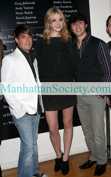 "NEW YORK - December 17: Jessica Stam poses with members of Article A at The 2nd Annual Charity: Ball Hosted by Adrian Grenier & Jessica Stam at Metropolitan Pavilion, 125 W. 18th Street New York City.  (Photo by Steve Mack/S.D. Mack Pictures)  Note: These images are available for licensing through <a target=""_blank"" title=""Licensing through Tabloidcity Pictures"" href=""http://www.tabloidcity.com"">Tablodcity Pictures</font></a></font></a>."