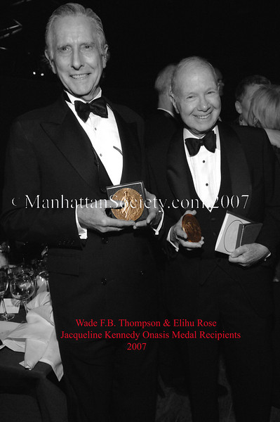 The Municipal Art Society Annual Dinner and Presentation of the Jacqueline Kennedy Onassis Medal
