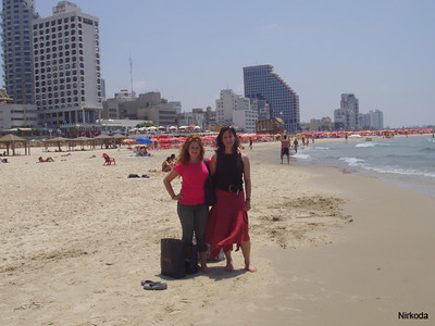 Ellyse and I on Tel Aviv beach