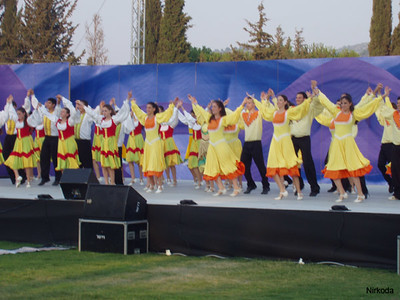 The opening show with performing groups