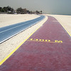 A very nice jogging path on the beach in Dubai.