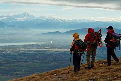 Lélex - Colomby de Gex Vue sur les Alpes - Mont Blanc - Genève