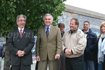 City of Newburgh Mayor Nicholas Valentine, Congressman Mauirce Hinchey and Orange County Executive Ed Diana