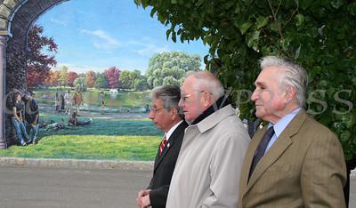 City of Newburgh Mayor Nicholas Valentine, Sen William Larkin and Cong Maurice Hinchey