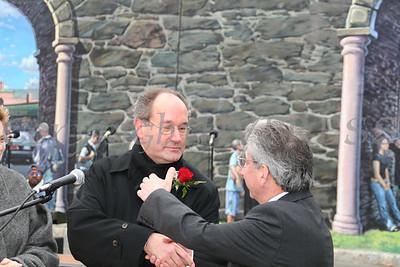 Father William Scafidi and City of Newburgh Mayor Nicholas Valentine