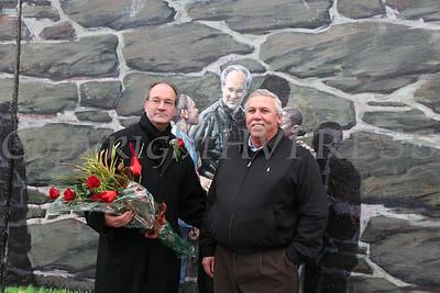 Father William Scafidi and Orange County Legislator Jim Kulisek