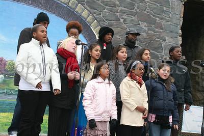 Chorus sings