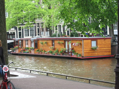 Houseboat near the Amsterdam Tulip Museum