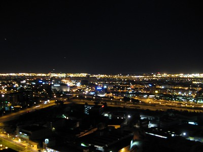 Nighttime in Sant Joan Despí, a suburb of Barcelona