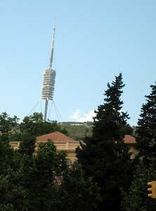 Torre de Collserola communications tower, on Tibidabo