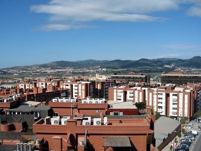 View from our hotel of Sant Joan Despí, a suburb of Barcelona