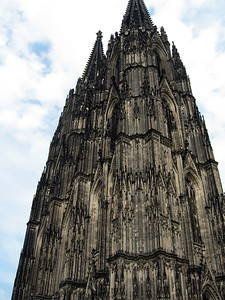 Dom (Cologne Cathedral), the largest Gothic church in Northern Europe and from 1880-1884 the tallest building in the world