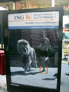 Billboard for the ING Europe-Marathon Luxembourg