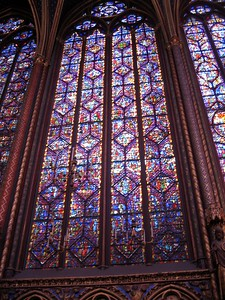 Window in La Sainte-Chapelle (The Holy Chapel)