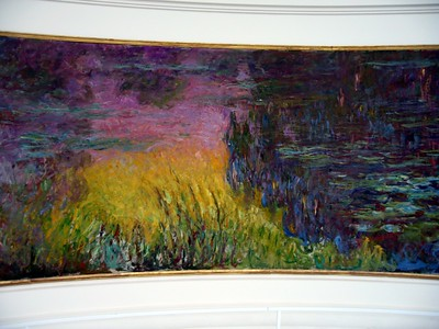 Claude Monet's Nympheas (Waterlillies), on display at the Musée de l'Orangerie