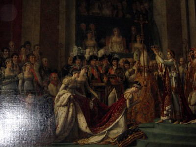 Portion of Jacques-Louis David's Coronation of Napoleon, at The Louvre Museum