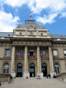 The Palais de Justice (Palace of Justice), home to the highest courts in France