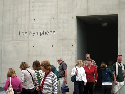 Entrance to the display of Claude Monet's Nympheas (Waterlillies), at the Musée de l'Orangerie