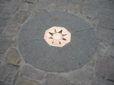 Kilometre Zero (the zero point from which all roads in France are measured), in front of Notre Dame de Paris