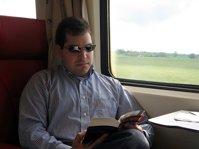Craig on the train from The Hague to Brussels