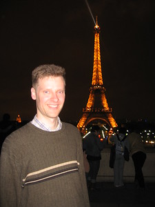 William at the Eiffel Tower in Paris