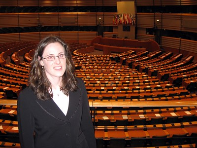 Kara at the European Parliament, in Brussels