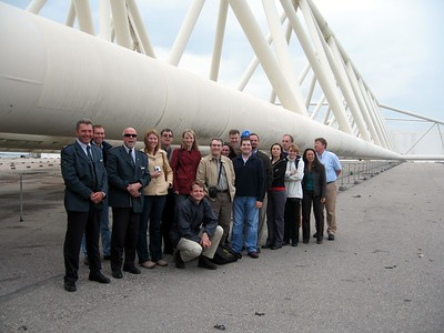 At the Maeslant Storm Surge Barrier near Rotterdam