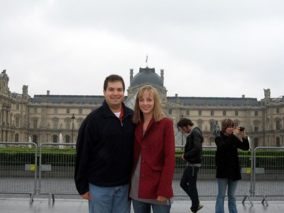 Craig and Michelle, at The Louvre Museum, in Paris