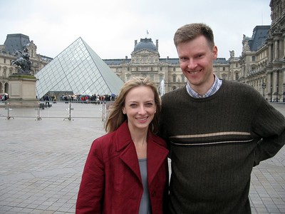 Michelle and William, at The Louvre Museum, in Paris