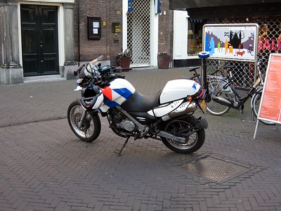 Police motorcycle in The Hague