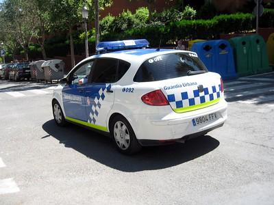 Police car in Barcelona
