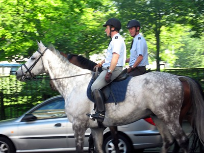 Mounted police officers in The Hague