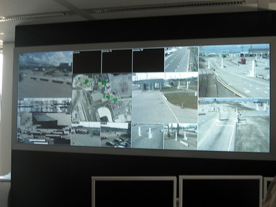 Nuclear scanning control room at the Port of Rotterdam