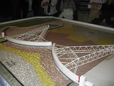 Model of the Maeslant Storm Surge Barrier, near Rotterdam