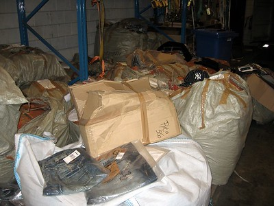 Counterfeit goods seized by the Dutch Customs Administration at the Port of Rotterdam